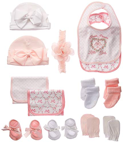 Little Me 13 Piece Baby Gift Set, Pink, 0-12 Months