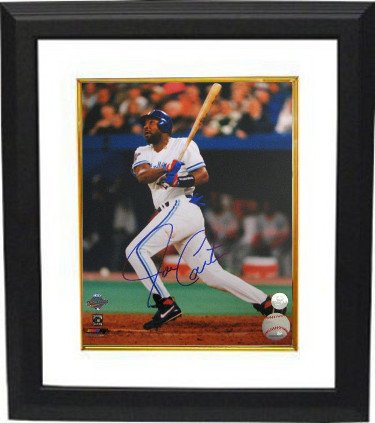 RDB Holdings & Consulting CTBL-BW17776 16 x 20 Joe Carter Signed Toronto Blue Jays Photo Frame44; MLB Hologram44; White - 1993 World Series Swinging from RDB Holdings & Consulting