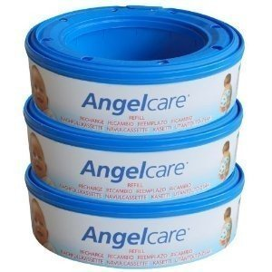 Price comparison product image 3 X Angelcare Nappy Disposal System Refill Cassettes Wrappers Bags Sacks Pack Best Quality Fast Shipping Ship Worldwide