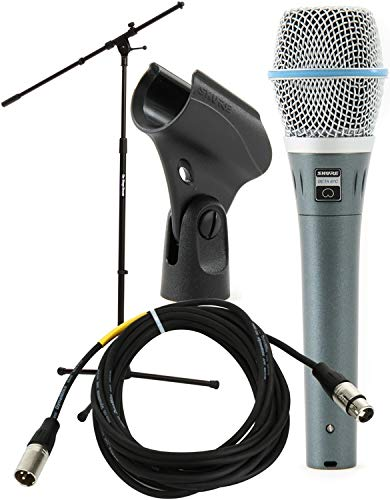 Shure Beta87C Handheld Microphone with Stand and Cable ()