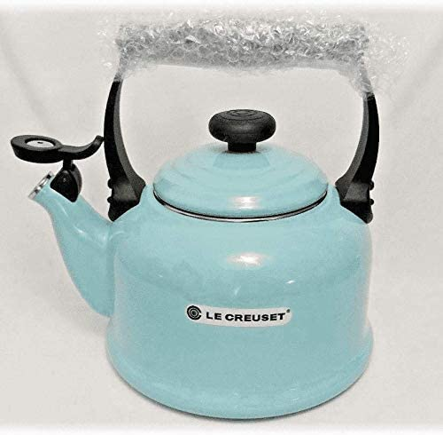 Le Creuset 2.2 Qt Classic Whistling Enamel on Steel Teakettle, Sky Blue