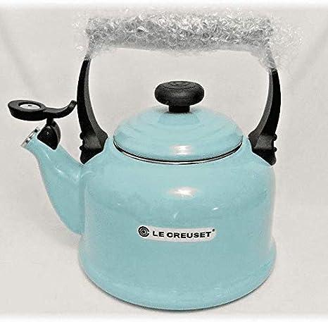 Sky Blue Le Creuset 2.2 Qt Classic Whistling Enamel on Steel Teakettle