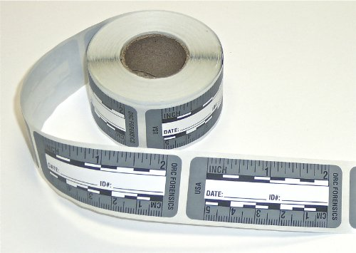 (Ruler – Adhesive Backed Decal on a Roll – Fractional/Metric – 2 Inch (5 Centimeter) Long – Left to Right – 200 per Roll – Gray)