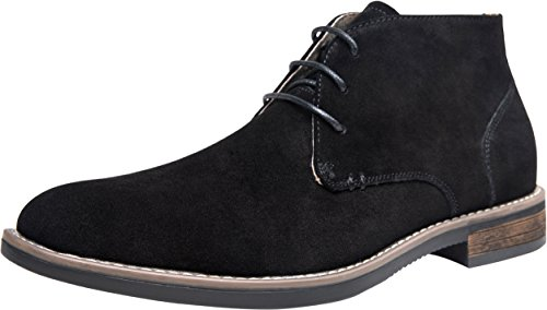 Mens Black Suede Boot - JOUSEN Men's Chukka Boots Classic Suede Desert Boot (9,Black)