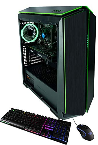 CUK Mantis Custom Gaming PC (Intel i5-8400, 16GB DDR4-2666 RAM, 500GB SSD, NVIDIA GeForce GTX 1060 3GB, 450W Bronze PSU, Windows 10) The Best New VR Ready Tower Desktop Computer for Gamers