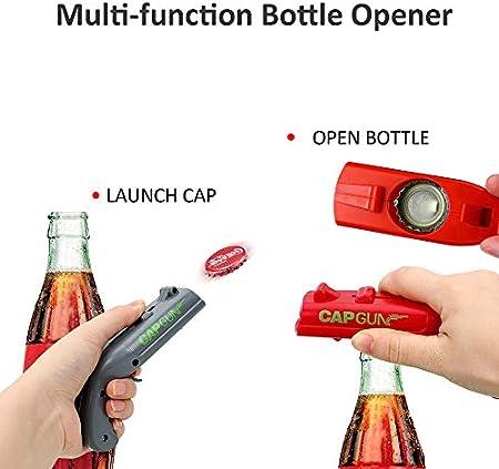 CGBOOM Abrebotellas de cerveza, mini abrebotellas en forma de pistola con abridor de vino sacacorchos gratis crea una gran diversión para la fiesta (2 PAQUETES)