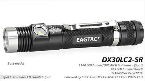 Eagletac DX30LC2-SR 1160 Lumen Rechargeable Dual-Beam Spot//Flood LED Flashlight