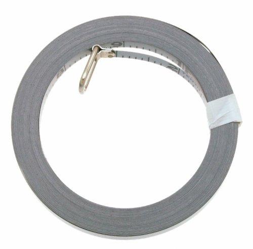 Lufkin OC213D - Recambio de cinta adhesiva cromada para anclaje de pie de ingeniería, 3/8' x 50 pies