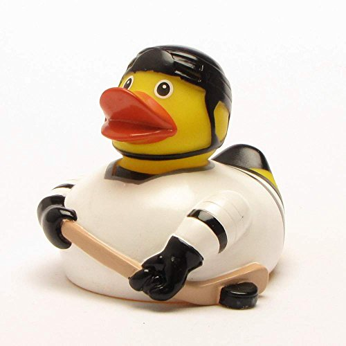 Hockey Rubber Duck (Rubber Duck Ice Hockey | Bath Duck | Duckshop | L: 8 cm)