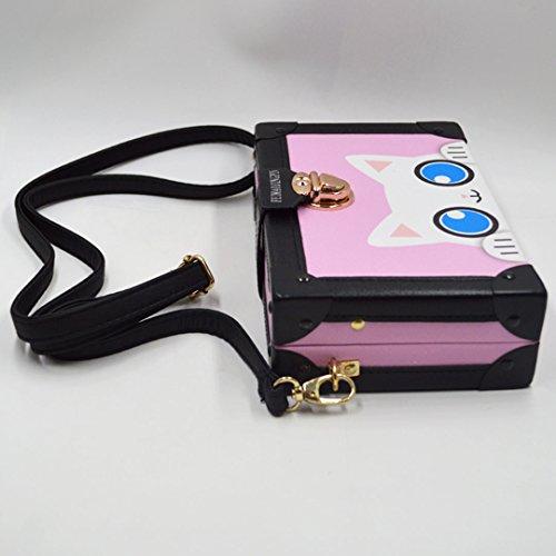 Bag Box Women's Elegant Shoulder Print Cute Pink Cartoon Mily awUzxpqq