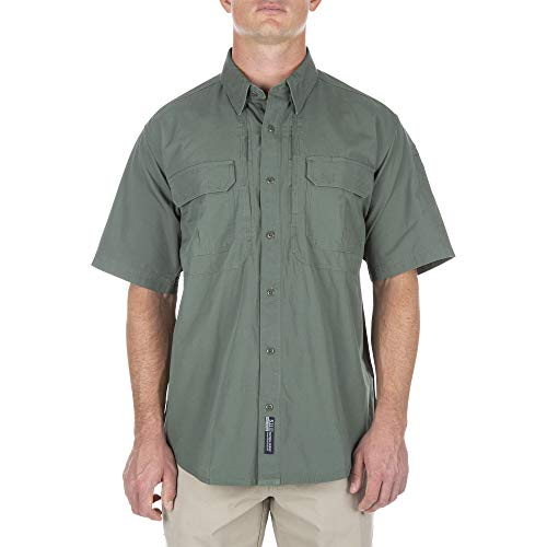 (5.11 Men's Cotton Tactical Short Sleeve Shirt, OD Green, X-Large )