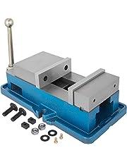 VEVOR Maskinskruvstäd metall, 40 mm höjd maskinskruvstäd, 125 mm hål borrmaskiner skruvstäd av stål, 24 KN max. spännkraft CNC skruvstäd, arbetsbänk skruvstäd