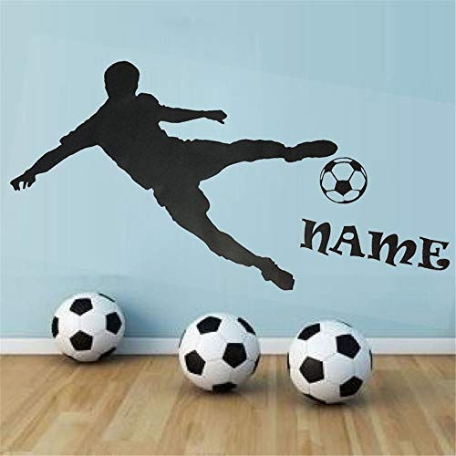 Decor Stickers Walls Art Words Sayings Removable Lettering Farleopard Personalised Name Football Player Silhouette Play Boy Bedroom Home Decor DIY Custom - Circles Playboy