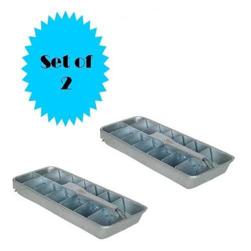 RETRO ALUMINUM ICE CUBE TRAY (SET OF 2) Aluminum Ice Cube Tray