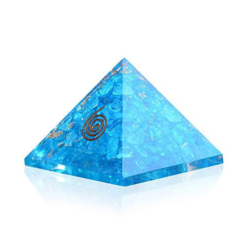 Crystal Agate - Blue Onyx Orgone Pyramid for EMF protection-Energy generator Crystal ()