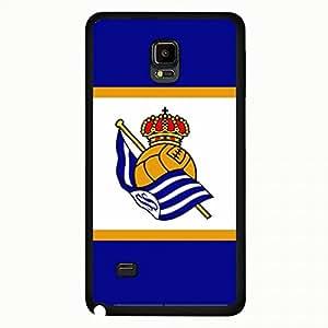 New Real Sociedad Liga BBVA Series Phone Case Cover,Black Plastic Cellphone Skin for Samsung Galxy Note4