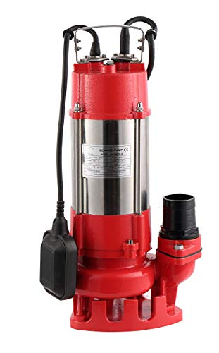 Hallmark Industries MA0387X-9 Sewage Pump, Stainless Steel, 1hp, 115V, with Float Switch, 7250 GPH/49