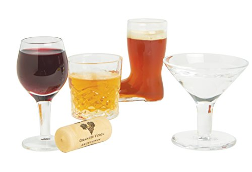 Barbuzzo Mini Cocktails (Set of 4) - Fun shot glasses that are miniature versions of your favorite barware glasses and make great conversation starters
