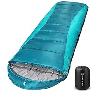 Bessport Sac de Couchage Flanelle & Polyester Taffeta Matériau pour Adultes et Enfant, Hydrofuge et Ripstop Matériau…