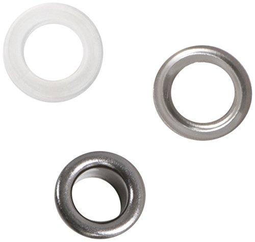 Dritz 730-33 2-Part Eyelets, 1/4-Inch, Gunmetal, 15 Count