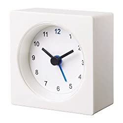 NEW IKEA VACKIS WHITE ALARM CLOCK