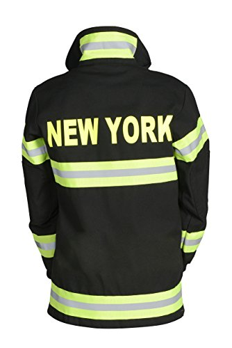 Aeromax Adult Fire Fighter New York Suit, Large, Black