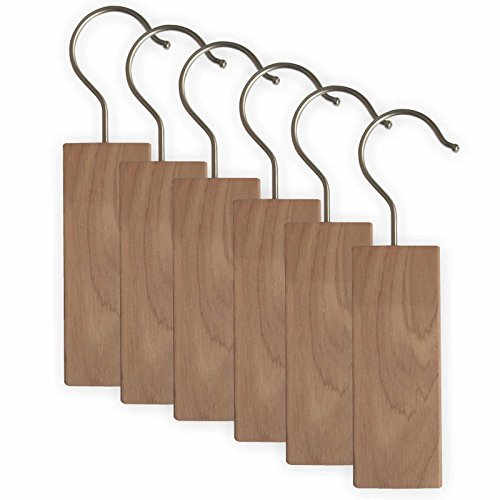 Blocks Hanging (Clay:Roberts Cedar Hang-Ups, Moth Repellent Blocks, Pack of 6, Clothing Protection and Odour Prevention)