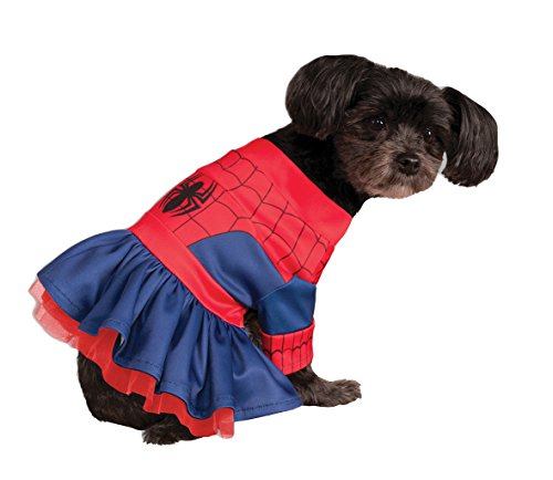 [Rubies Costume Company Marvel Classic/Marvel Universe Spider-Girl Pet Costume, X-Small] (Pet Spiderman Costumes)