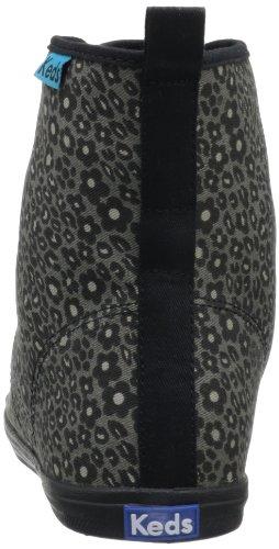 Keds Women's Rookie Loop DE Leopard Fashion Sneaker,Black,8.5 M US