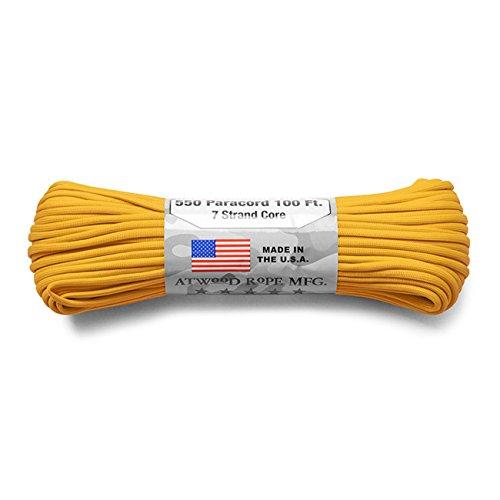 プラスチック試験石灰岩ATWOOD ROPE MFG. アトウッド?ロープ 7Strand 550Lbs パラコード 100フィート MADE IN USA