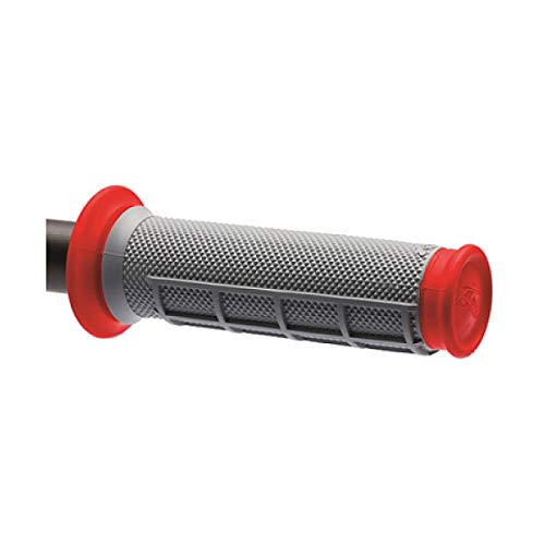 (Renthal G169 Red/Gray Diamond/Waffle Soft/Firm Compound ATV Grip)