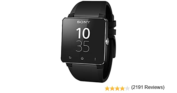 "Sony SmartWatch 2 - Android (pantalla LCD 1.6"" (220x176), Bluetooth 3.0 con NFC) Color negro"