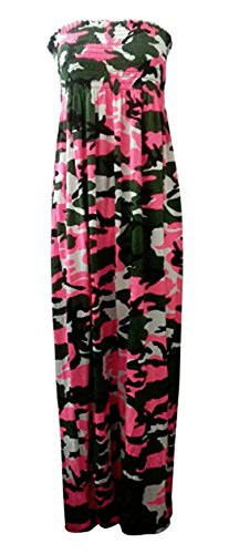 Size Army Pink Dye Stripe Neon Womens Forever Tie Sheering Maxi Leopard Plus Print Dress Floral 1EfWCq