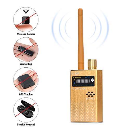 Covvy RF Signal Detector, Wireless Anti Spy Bug Detector, GPS Radar Radio Scanner GSM Signal Tracker, Listening Devices, Hidden Camera Finder, Wireless Signal Alarm Privacy Protector