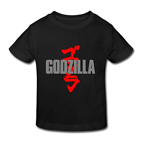 AOPO Godzilla T Shirts For Toddlers Unisex (2-6 Years) 4 Toddler Black