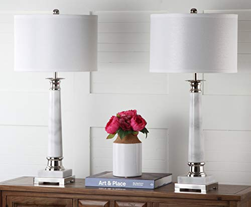 Safavieh Lighting Collection Colleen White Marble Table Lamp (Set of 2), 31