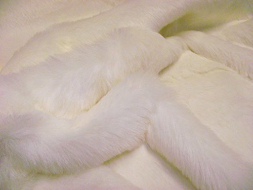 LUXURY Faux Fur Fabric Material SNOW WHITE by CRS Fur Fabrics by CRS Fur Fabrics (Image #1)