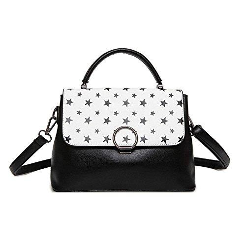 Ms Black Handbag Commutación Bolsa Bolsas Salvaje Simple Fashion Elegante Crossbody De Hit Hombro Color ZLLNSXKB HwdBHx