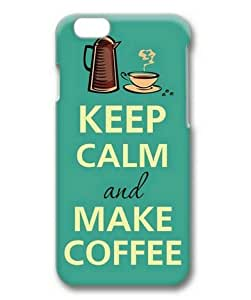 4 4s Case, Keep Calm and Make Coffee Slim Fit Case for iphone 4 4s 3D PC Material