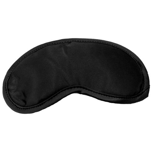 Sex and Mischief Satin Blindfold Black, Black