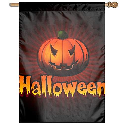 Linhong Halloween Pumpkin Clip Art Welcome Garden Flag
