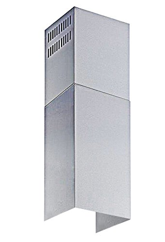 Winflo Stainless Steel Chimney Extension (up to 11ft. Ceiling) for Winflo Convertible Wall Mount Range Hood (upper and lower piece set) (Flue Stretcher)