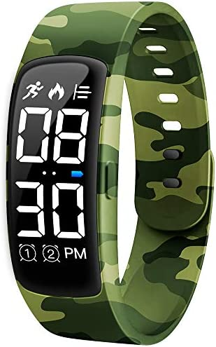 Kids Fitness Tracker Watch, AKIVIDA Activity Tracker Pedometer Bracelet with Alarm Clock Calorie Step Counter Sport Watch Gift for Kids Girls Boys Teens 1