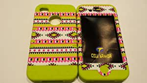 Iphone 4 4s Tribal Case with Greenish Yellow Soft Gel Skin
