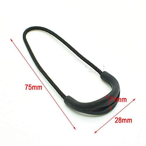 10pcs/Pack U Shape Color Zipper Pulls Fits/Zipper Fixer for Apparel Accessories (Black)