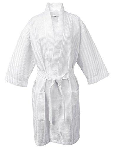 LUXEHOME 100% Cotton Waffle Bathrobe Weave Waffle Spa Robes for Women and Men (Waffle Weave Spa Robe)