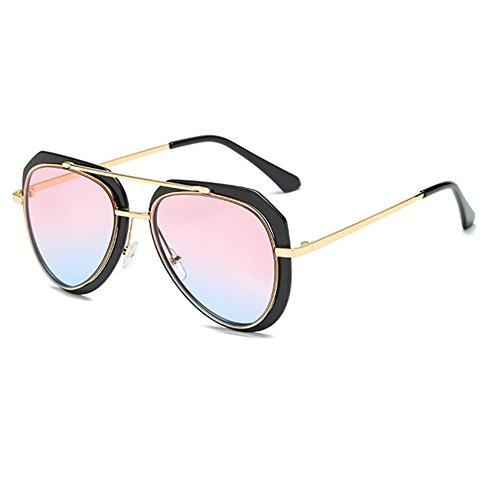 Aoligei Lunette de soleil bicolore crapaud lunettes de soleil rétro MyZWcN