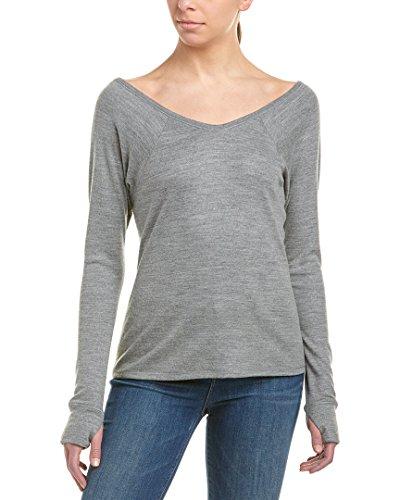 - Helmut Lang Womens Raglan Wool-Blend Top, S, Grey