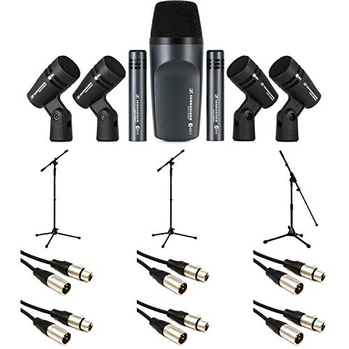 Sennheiser e 600 Drum Microphone Pack with Stands and Cables ()