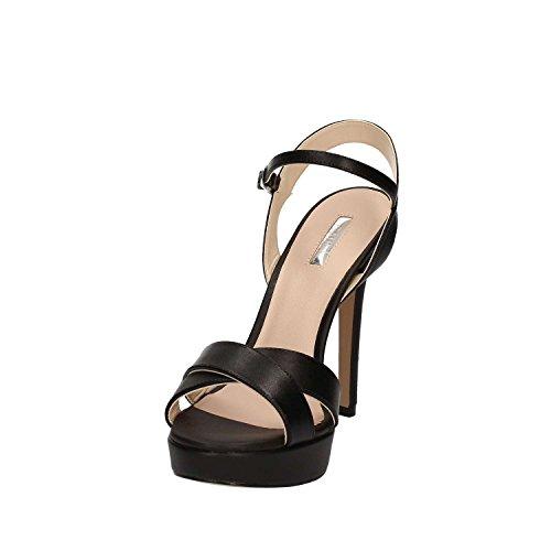 Gaudi Sandalia Mujer Ary Tacòn Cm 12 PL Cm 2,5 Leather Black Nero